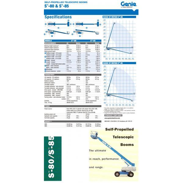 Telescopic Boom Lifts GENIE-28